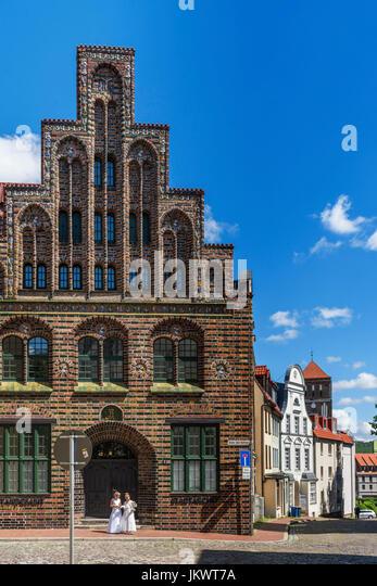 Standesamt, Standesamt, Backsteingotik, Rostock, Mecklenburg-Vorpommern, Stockbild
