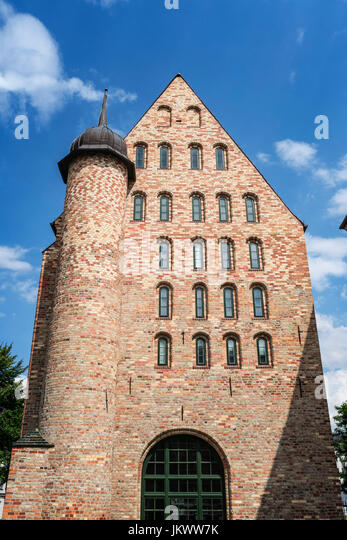 Michaeliskloster, Westseite, Backsteingotik, Rostock, Mecklenburg-Vorpommern, Stockbild