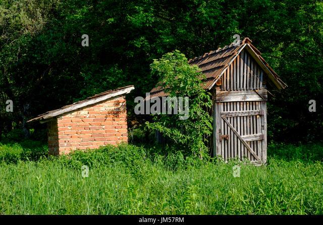 brick garden shed stockfotos brick garden shed bilder alamy. Black Bedroom Furniture Sets. Home Design Ideas