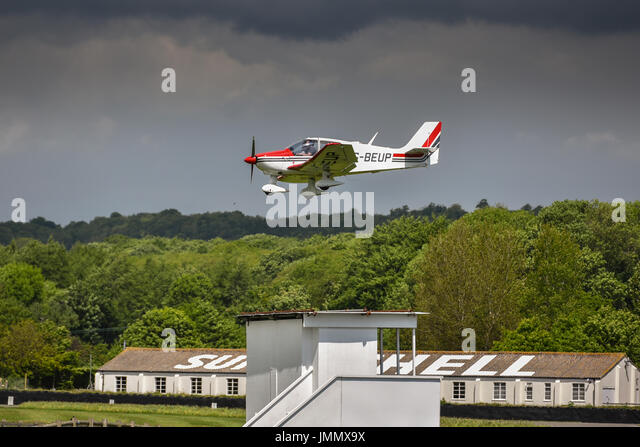 Landung in Goodwood Stockbild