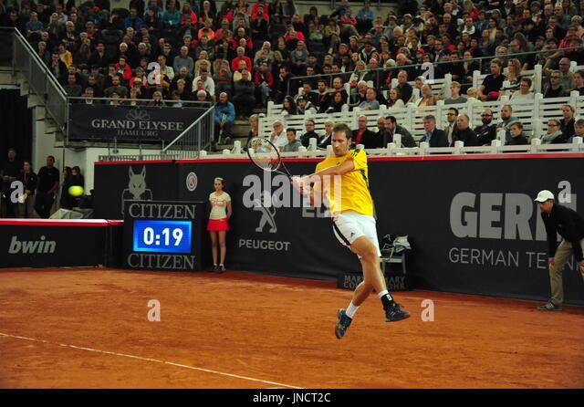 German Open 2017, ATP World Tour, Florian Mayer (GER) gewann eine halbe Finale Vs. Philipp Kohlschreiber, Hamburg. Stockbild