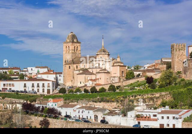 Spanien, Extremadura Region Jerez de Los Caballeros Stadt Encarnación Kirche Stockbild