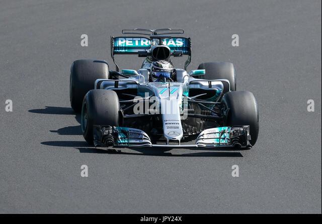 Budapest, Ungarn. 2. August 2017. 1. August 2017, Hungaroring, Budapest, Ungarn; Formel 1 In Saison-Test; Valterri Stockbild