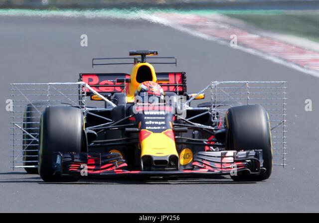 Budapest, Ungarn. 2. August 2017. 1. August 2017, Hungaroring, Budapest, Ungarn; Formel 1 In Saison-Test; Max Verstappen Stockbild