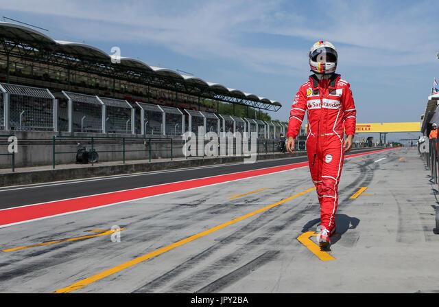 Budapest, Ungarn. 2. August 2017. 2. August 2017, Hungaroring, Budapest, Ungarn; Formel 1 In Saison-Test; Sebastian Stockbild