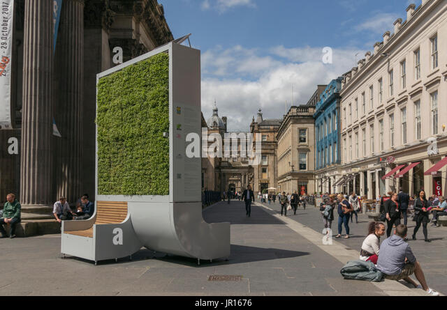 Stadt Baum biologische Luftfilter, Royal Exchange Square, Glasgow, Schottland, Großbritannien Stockbild