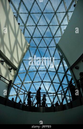 Architektonische Abstraktionen und Details der Dali Museum in Saint Petersburg, Florida Stockbild