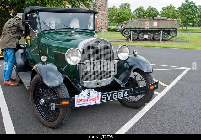 Ein 1929-vintage Ford Modell A Coupé besuchen Fulwood Kaserne, Preston, während der Lancashire Auto Club Stockbild
