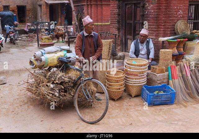 Street Scene, Bhaktapur, Nepal. Stockbild