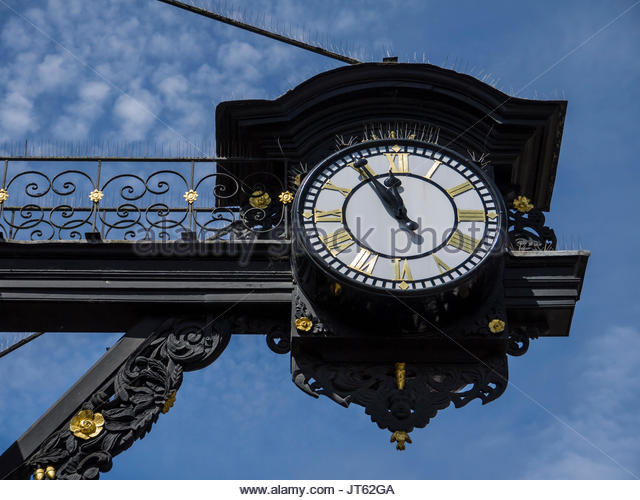 Winchester Hampshire England Town Clock High Street Stockbild