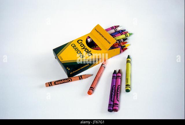 Studio geschossen von Crayola Wachsmalstifte © Myrleen Pearson Stockbild