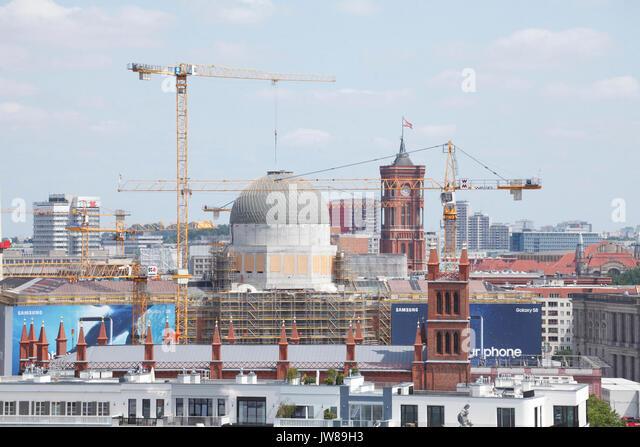 DEU, Deutschland, Berlin: Experimentierfeld, Baugerüst am Berliner Stadtschloß in Berlin-Mitte | DEU, Stockbild