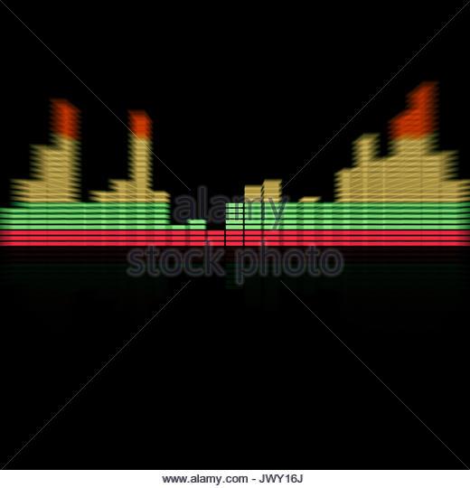 Grafik-Equalizer Stockbild