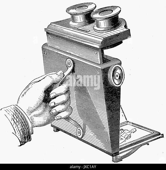 DAVID BREWSTER (1781-1868) schottischer Erfinder und Mathematiker. Seine falten Stereoskop Stockbild