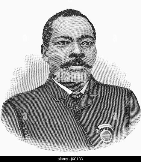 GRANVILLE WOODS (1856-1910) amerikanischer Erfinder Stockbild