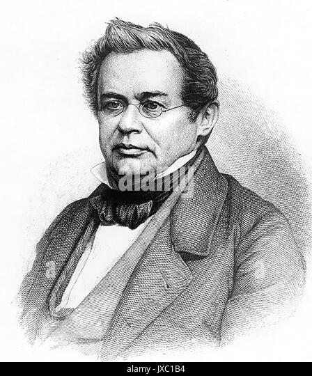 HEINRICH EMIL LENZ (1804-1865), russischer Physiker Stockbild