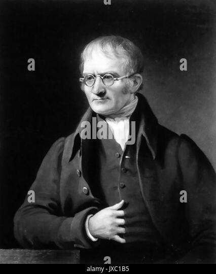 JOHN Dalton (1766-1844), englischer Physiker und Chemiker in einem 1834 Schabkunst Stockbild