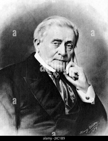 JOSEPH HENRY (1797-1878), US-amerikanische Wissenschaftler und erster Sekretär der Smithsonian Institution Stockbild