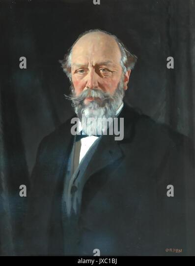 TEMPEST ANDERSON (1846-1913) vulcanologist, Chirurg und Fotograf. 1912 von William Orpen lackiert Stockbild
