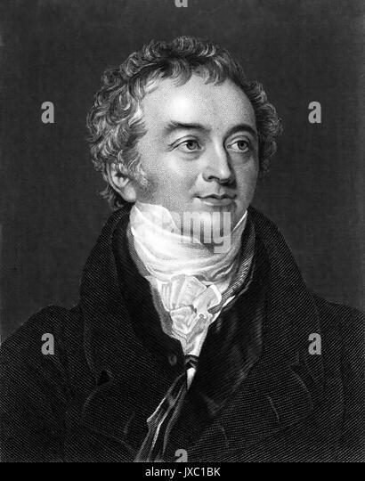 THOMAS YOUNG (1773-1829), englischer Physiker und Ägyptologe Stockbild