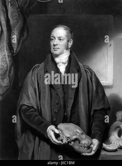 WILLIAM BUCKLAND (1784-1856), englischer Geologe und Theologe Stockbild