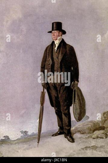 WILLIAM BUCKLAND (1784-1856), englischer Geologe und Theologe als Präsident der Geologischen Gesellschaft in Stockbild