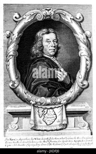 ROBERT KNOX (1641-1720), englischer Seekapitän, Explorer, Schriftsteller Stockbild