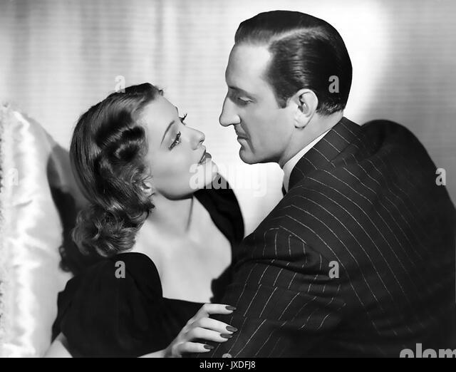 Der verrückte Doktor 1941 Paramount Pictures Film mit Ellen Drew und Basil Rathbone Stockbild