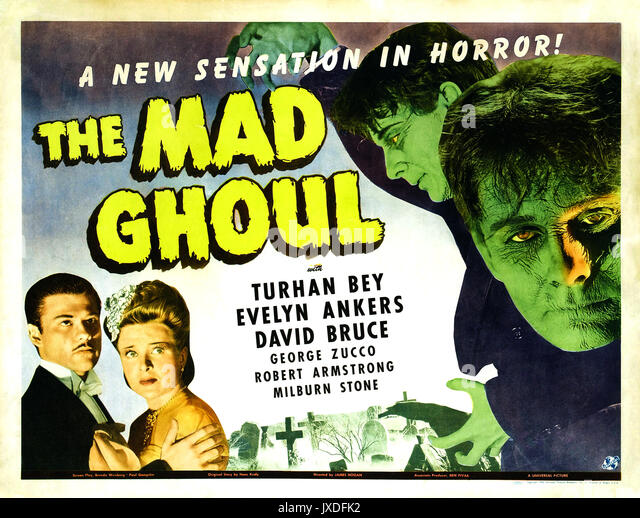 Die MAD GHOUL 1943 Universal Pictures sci-fi-film Stockbild