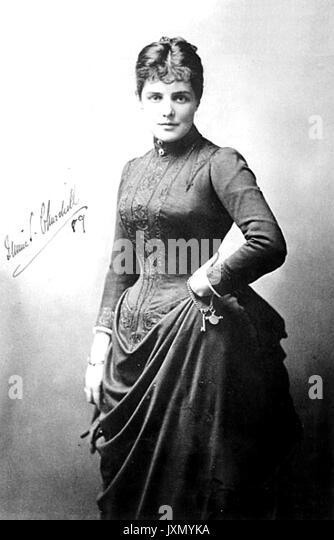 JENNIE CHURCHILL (1854-1921), Anglo-amerikanische Frau von Lord Randolph Churchill und Mutter von Winston Churchill, Stockbild