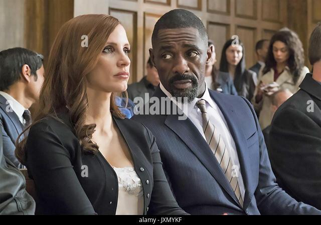 MOLLY'S SPIEL 2017 Entertainment einen Film mit Jessica Chastain und Idris Elba Stockbild