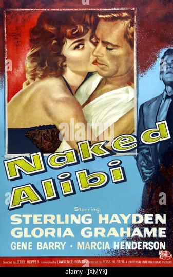 Nackte ALIBI 1954 Universal International Film mit Gloria Grahame und Sterling Hayden Stockbild