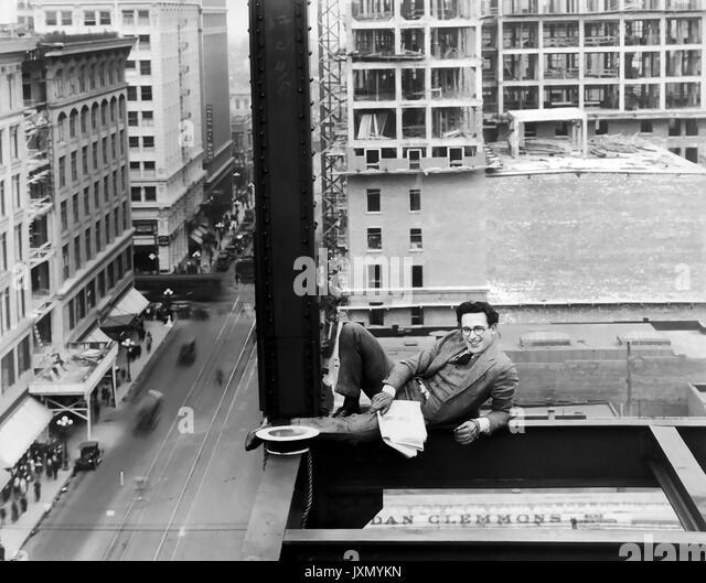 Nie SCHWÄCHEN 1921 Pathe Stummfilm mit Harold Lloyd Stockbild