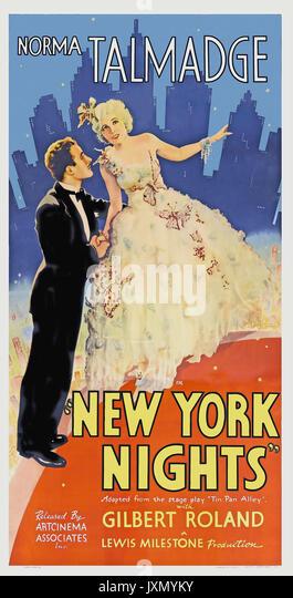 NEW YORK NIGHTS 1929 United Artists Film mit Norma Talmadge Stockbild