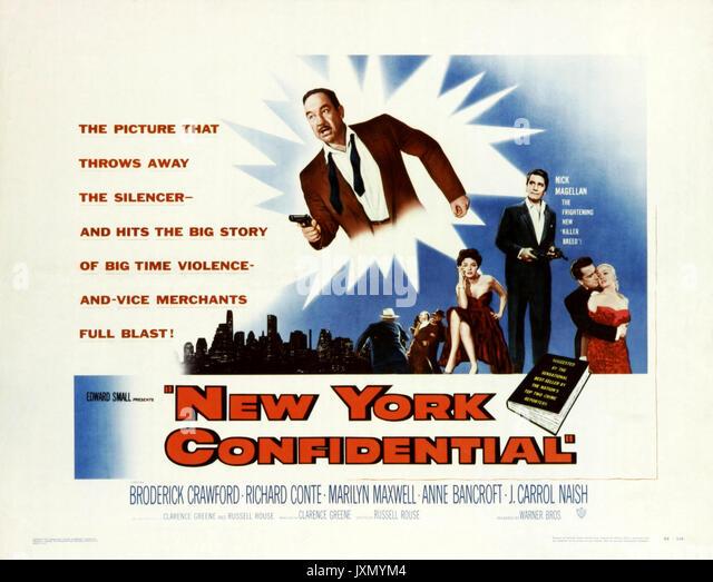 NEW YORK VERTRAULICH 1955 Warner Bros film Stockbild