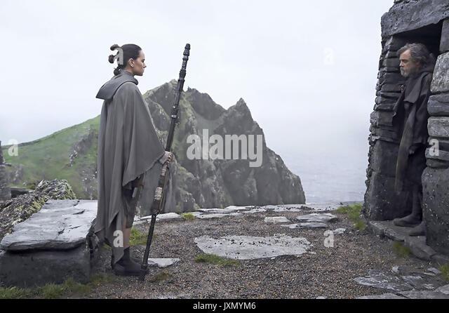 STAR WARS, DER LETZTE JEDI 2017 Lucasfilm Produktion mit Daisy Ridley und Mark Hamill Stockbild