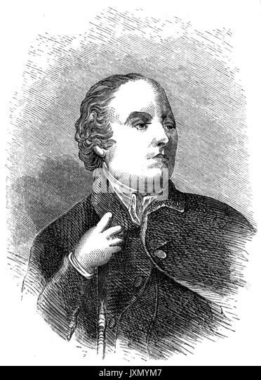 WILLIAM GILPIN (1724-1804) Englischer anglikanischer Geistlicher, Schriftsteller und Künstler, der das Konzept Stockbild