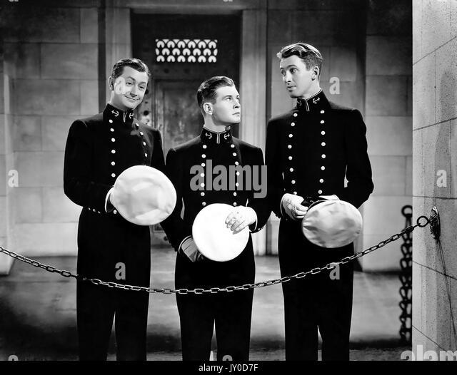 Marine BLAU UND GOLD MGM Film 1937 mit James Stewart auf der rechten Seite Stockbild