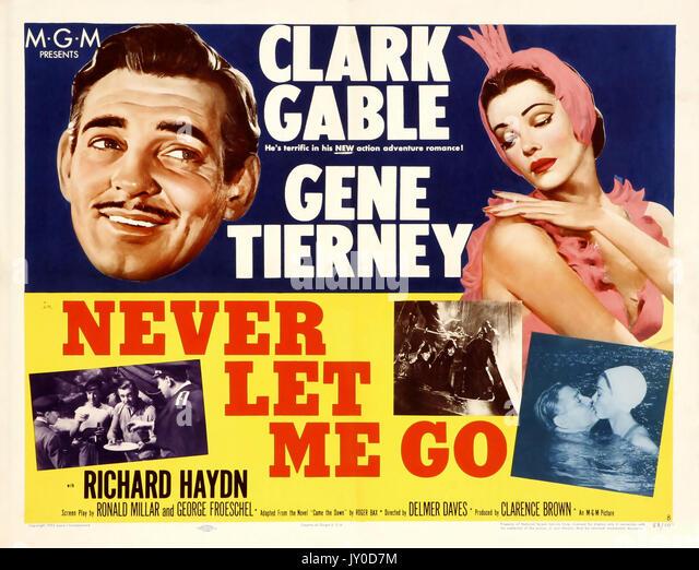 NEVER LET ME GO 1953 MGM Film mit Clark Gable und Gene Tierney Stockbild