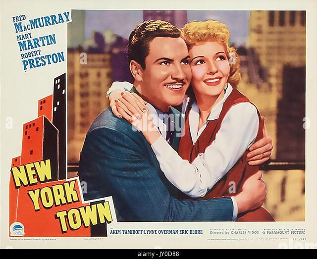 NEW YORK STADT 1941 Paramount Film mit Marty Martin und Robert Preston Stockbild