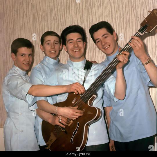 Die Praktikanten Welsh pop-Gruppe im April 1964. Foto: Tony Gale Stockbild