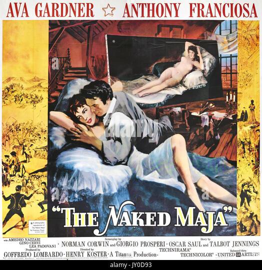 Die NACKTE MAJA 1958 United Artists/MGM Film mit Ava Gardner und Anthony Franciosa Stockbild