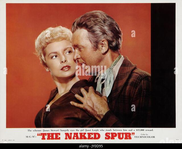 Die nackten Sporn 1953 MGM Film mit Janet Leigh und James Stewart Stockbild