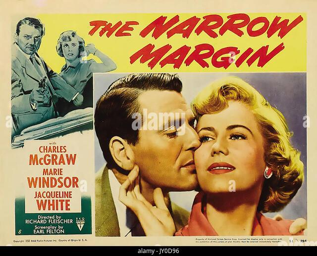 Die schmalen Marge 1952 RKO Film mit Jacqueline Weiss und Charles McGraw von Robert Fleischer gerichtet Stockbild