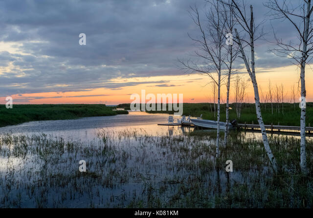 Wasserkocher, Lake Huron, Ontario, Kanada, Nordamerika Stockbild