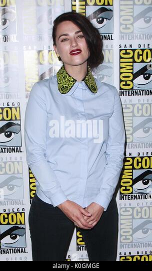 San Diego Comic Con 2017-upergirl'-Fotoshooting mit: Katie McGrath Wo: San Diego, Kalifornien, USA Wann: 22 Stockbild