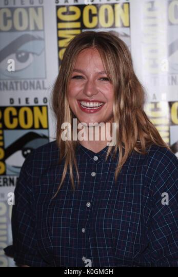 San Diego Comic Con 2017-upergirl'-Fotoshooting mit: Melissa Benoist Wo: San Diego, Kalifornien, USA Wann: 22 Stockbild