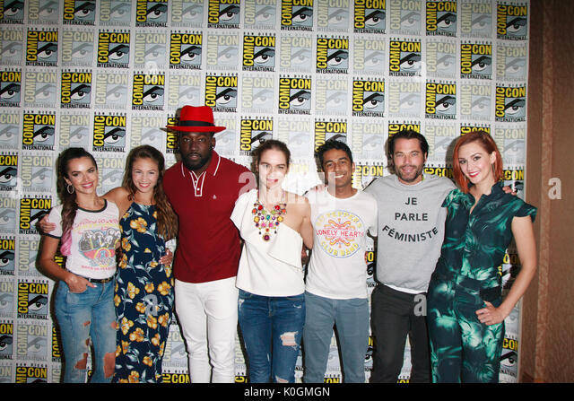 "San Diego Comic Con 2017 - ""wynonna Earp"" - Fotoshooting mit: Besetzung von wynonna Earp Wo: San Diego, Stockbild"