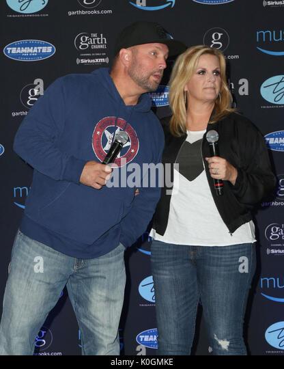 Garth Brooks World Tour mit Trisha Yearwood Pressekonferenz im Forum Mit: Garth Brooks, Trisha Yearwood, Wo: Inglewood, Stockbild