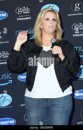 Garth Brooks World Tour mit Trisha Yearwood Pressekonferenz im Forum Mit: Trisha Yearwood Wo: Inglewood, California, Stockbild